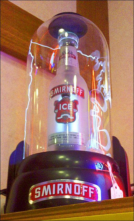 Electrifying Liquor Case Displays