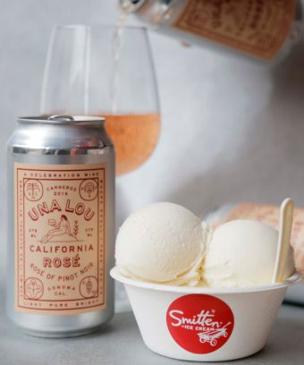 Rosé-Based Ice Cream Flavors