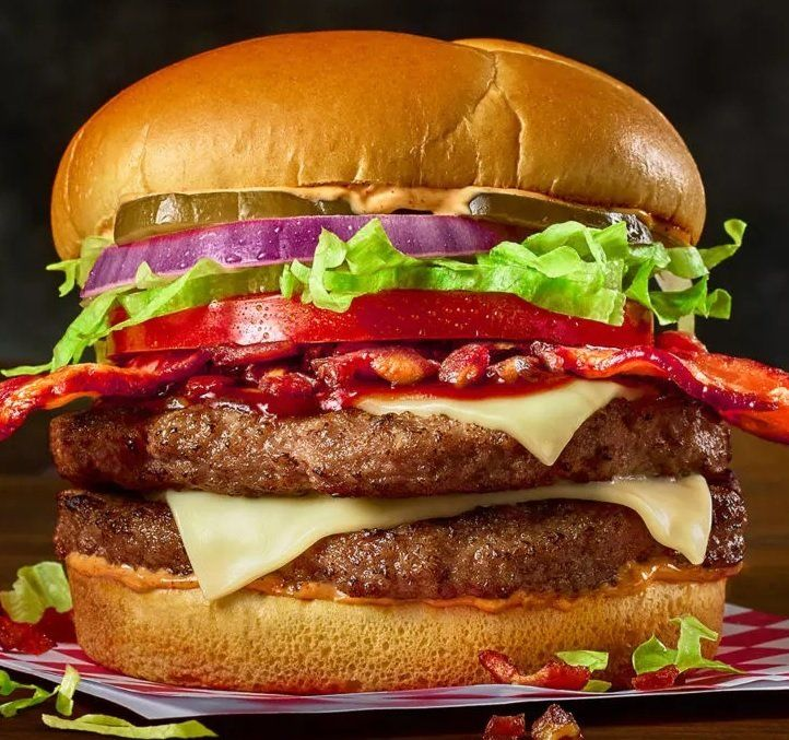 Towering BBQ Bacon Burgers