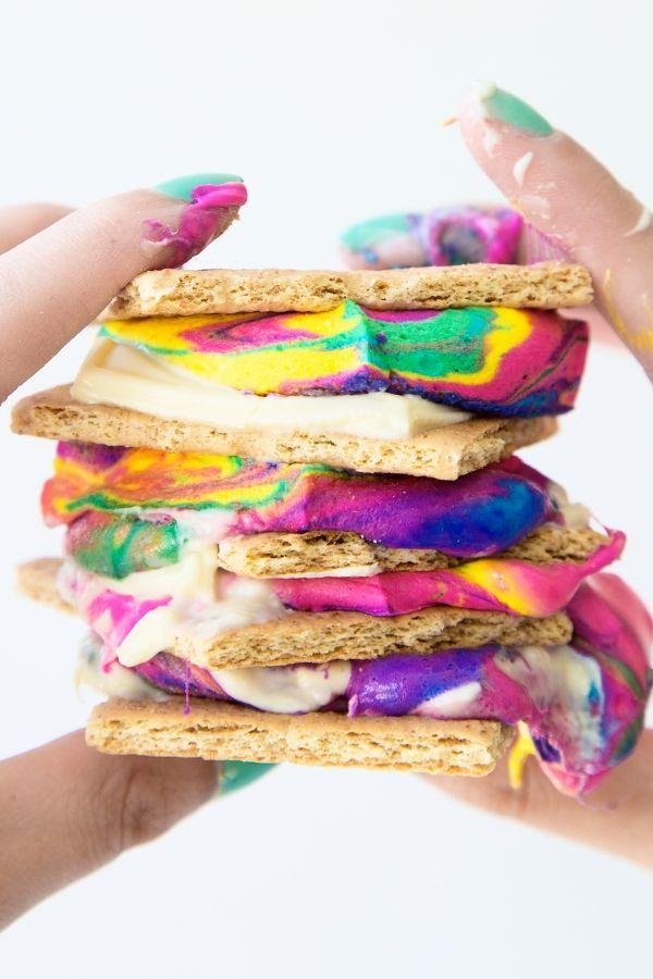 Rainbow Smores Recipes