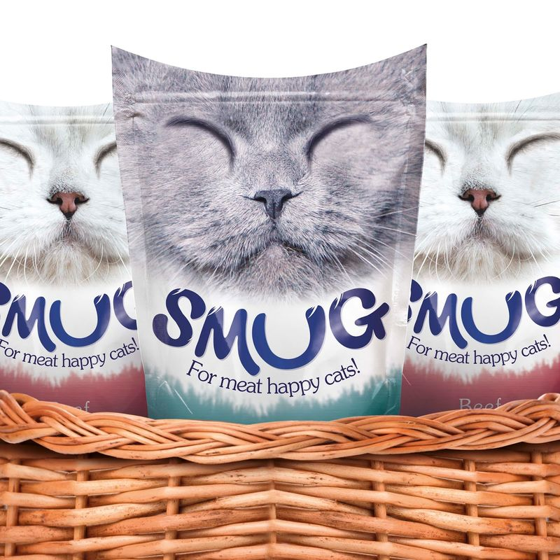 Smiling Feline Food Packaging
