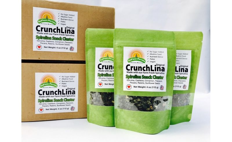 Crunchy Spirulina Snacks