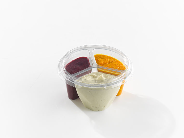 Three-In-One Dip Containers