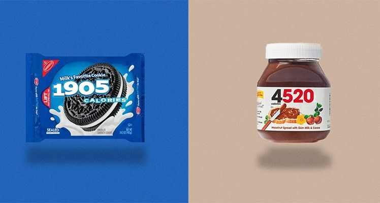 Calorie-Revealing Snack Redesigns