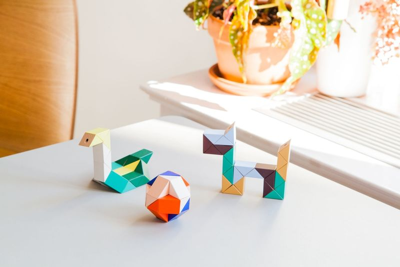 Wooden Triangle Block Toys