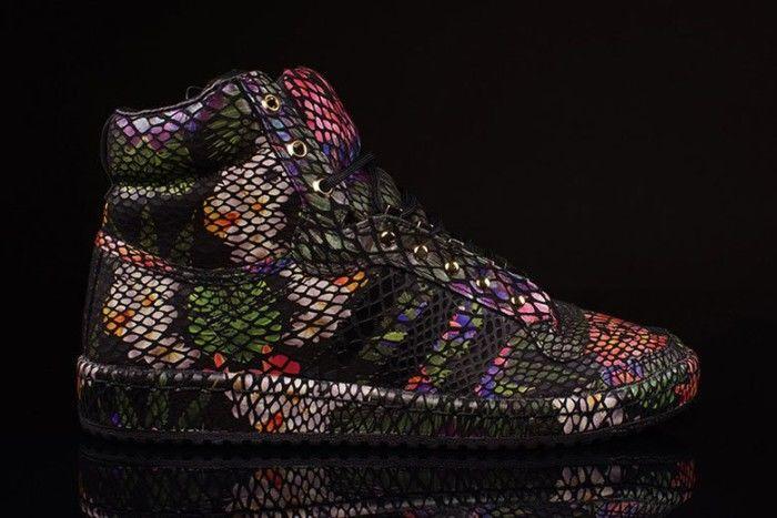 Botanical Snakeskin Sneakers