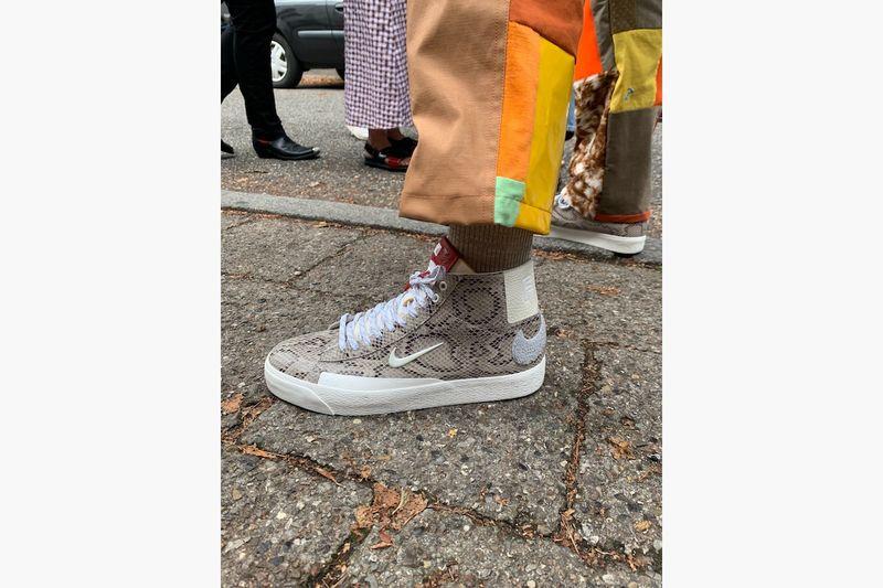 Elegant Snakeskin Sneaker Silhouettes