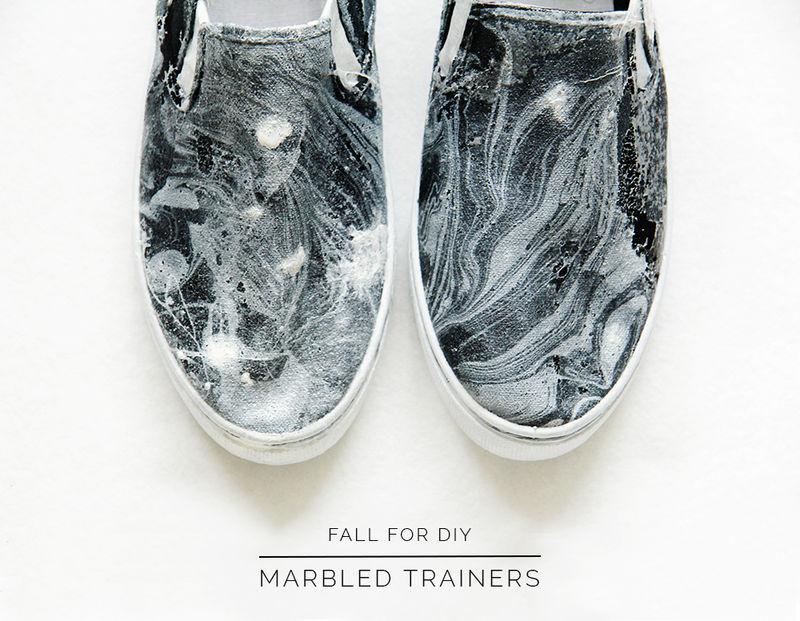 Marbled Sneaker DIYs