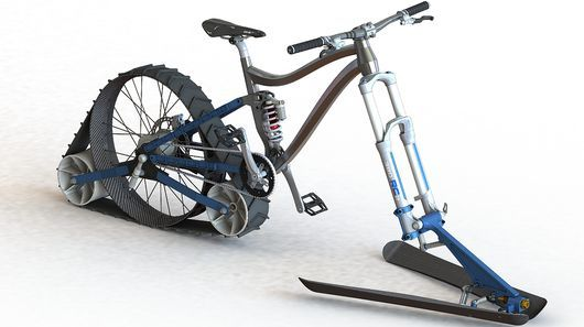 Smooth-Riding Snow Bikes