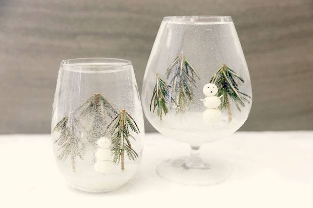 DIY Snow Globe Cocktails