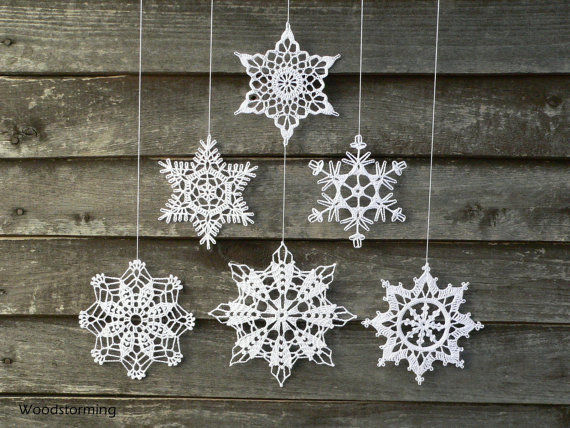 Crocheted Snowflake Decor