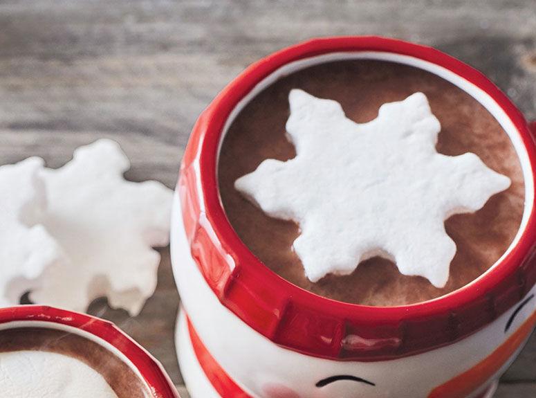 Seasonally Shaped Beverage Marshmallows