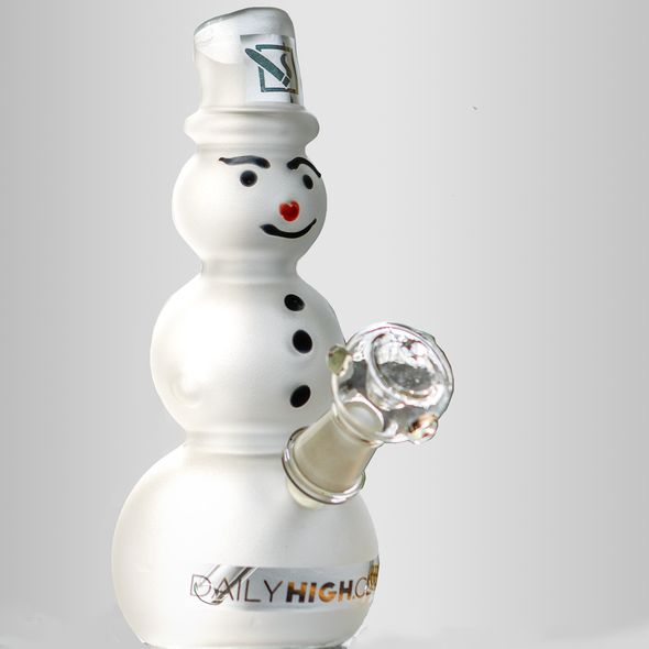 Frosted Snowman Bongs
