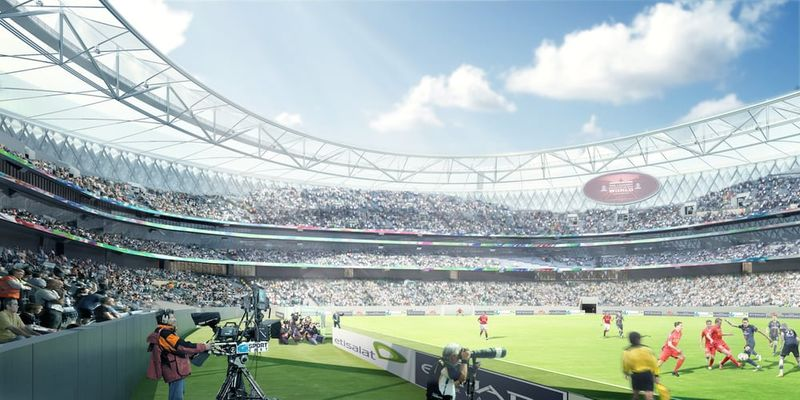 Porous Soccer Stadiums