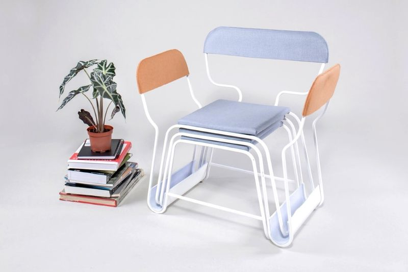 Stacked Three-in-One Armchairs