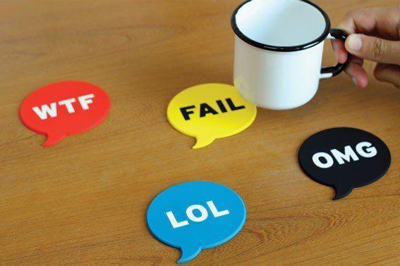 Social Media Slang Coasters