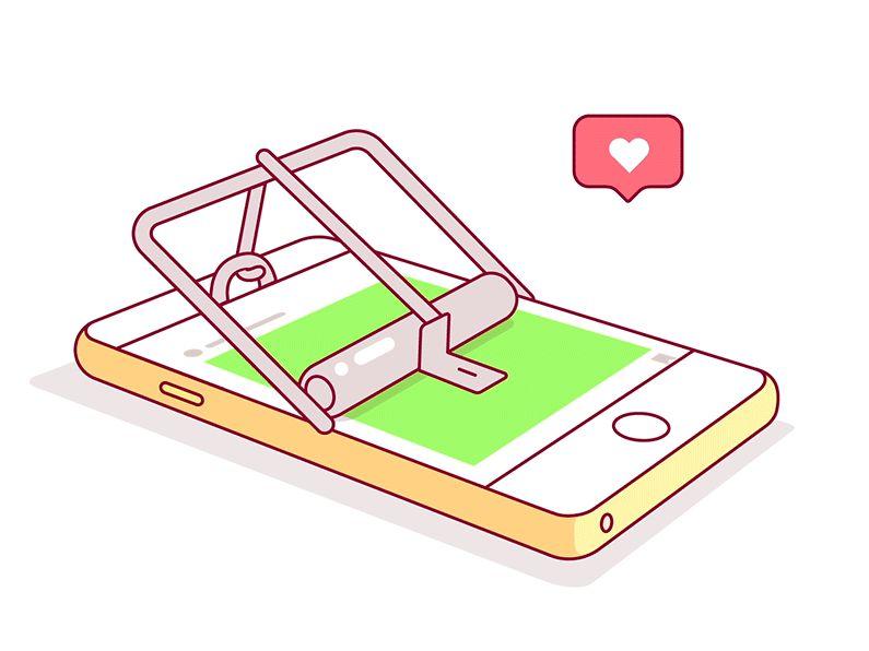 Quirky Social Media Illustrations