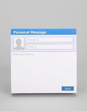 Social Media Message Notepads