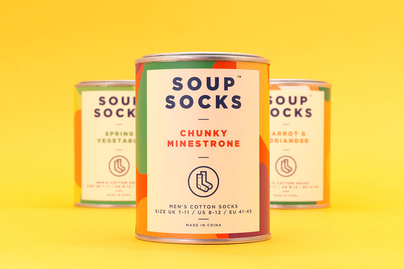 Soup-Style Sock Packaging