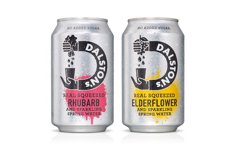 Color-Splash Soda Can Designs