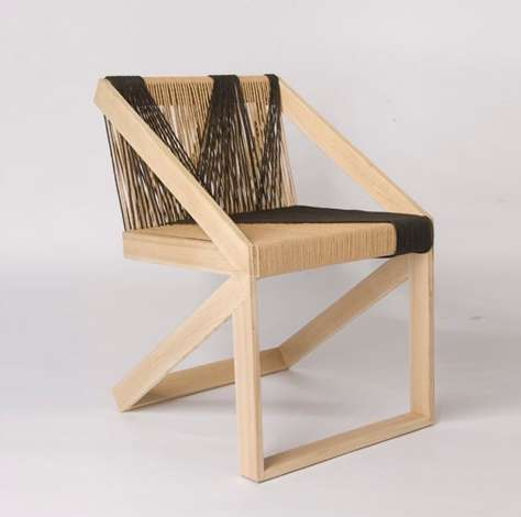 Yarn-Threaded Chairs