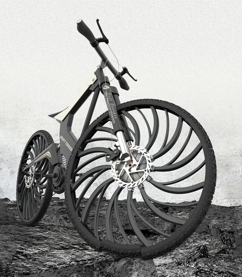 Shock-Absorbing Bike Tires
