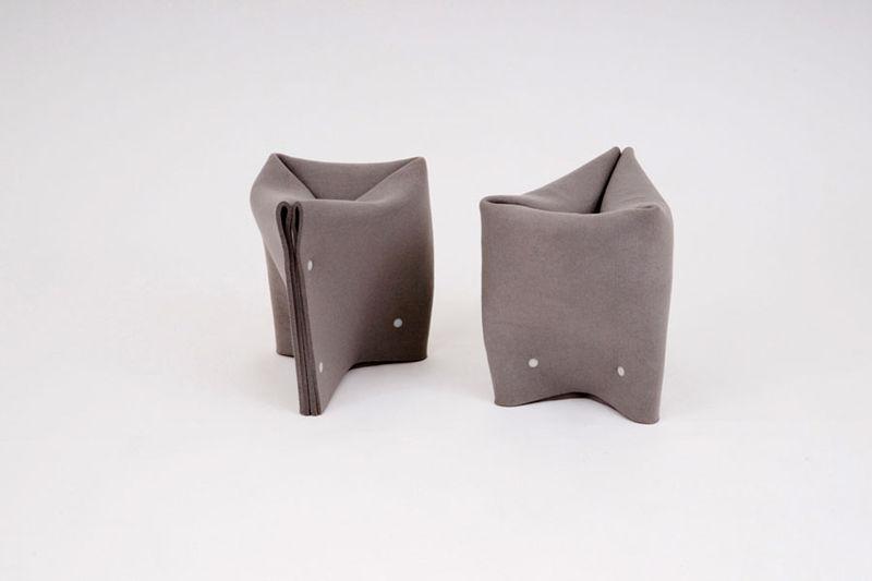 Origami Felt Stools