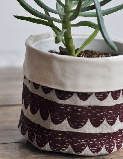 Patterned Textile Containers