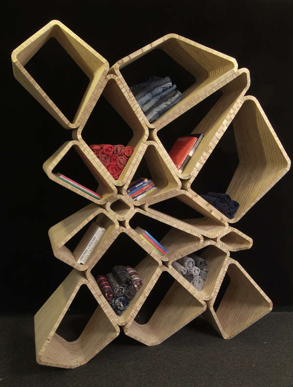 Abstract Honeycomb Shelving