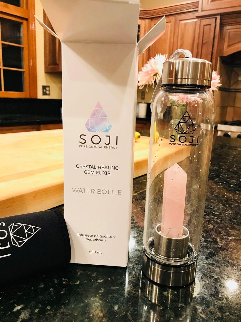 Crystal Infused Water Bottles Soji Crystal Water Bottle