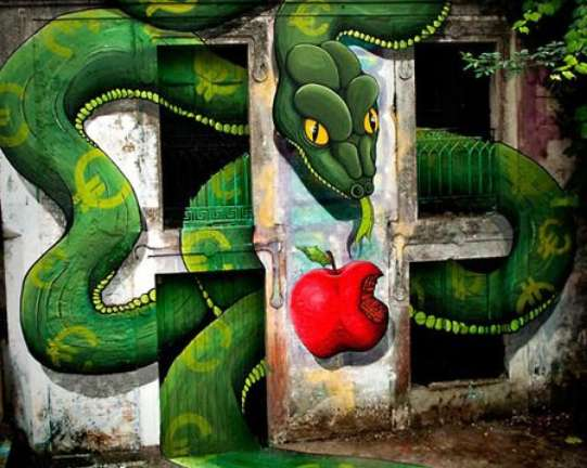 Serpentine Temptation Graffiti