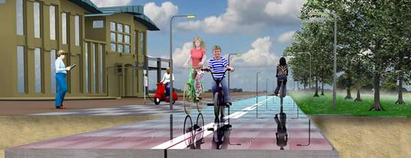 Energy-Harnessed Cycle Paths
