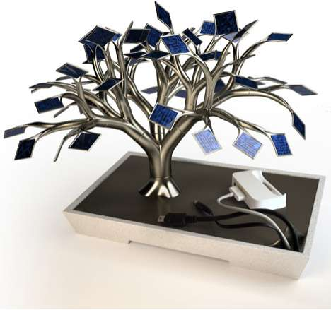 Solar Powered Tree Chargers