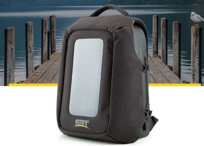Eco Device-Charging Knapsacks