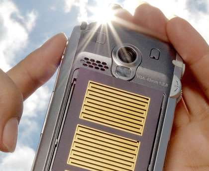 Solar Powered Cellphone