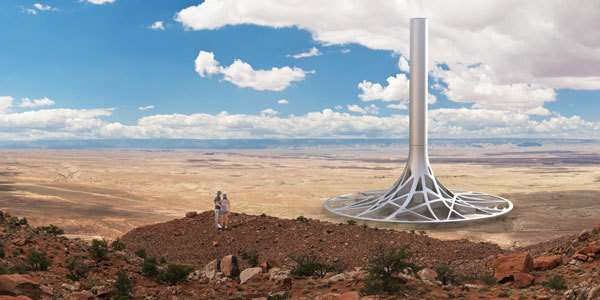 Tree Root Power Stations Solar Tower Concept