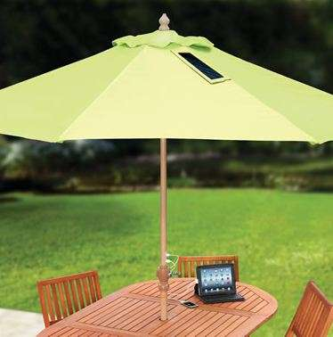 Phone-Charging Solar Umbrellas