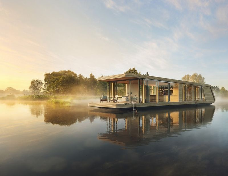 Solar-Powered Floating Homes