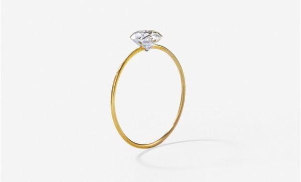Clawless Diamond Rings