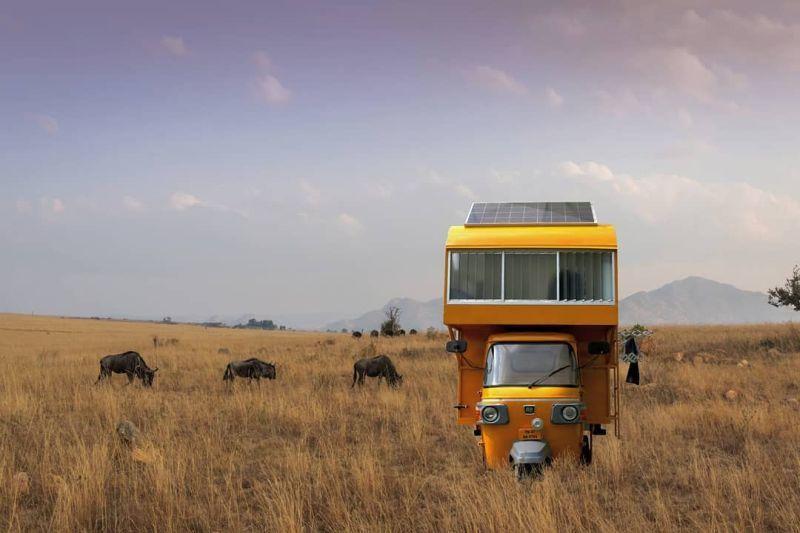 Auto Rickshaw Tiny Homes