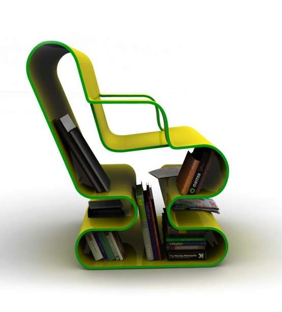 Curvy Bookcase Seating