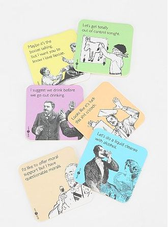 Humorous E-Card Coasters