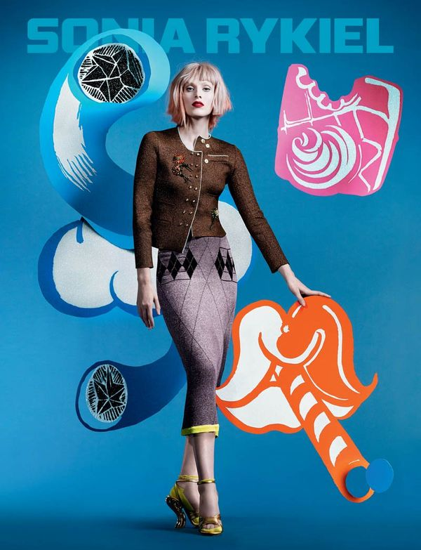 Vibrantly Graphic Fashion Ads