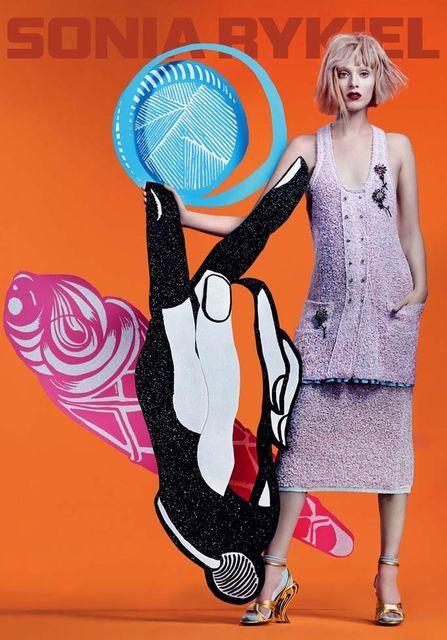 Couture Cartoonish Fashion Campaigns