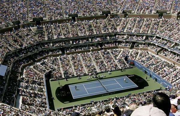 Fake Digital Displays on Tennis Courts