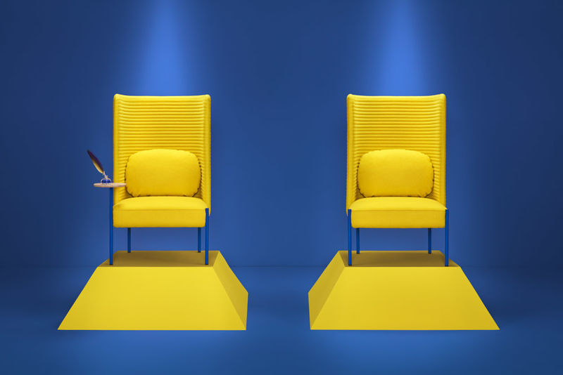 Sound-Absorbing Armchairs