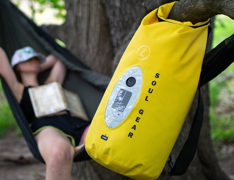 Speaker-Equipped Swimming Bags