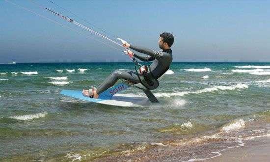 Paraplegic Kite Surfing
