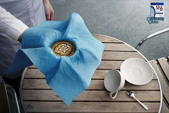 Coffee-Holding Cloth Ads