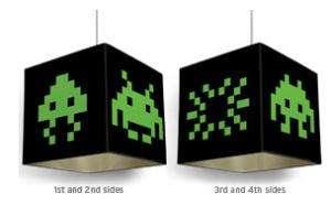 Gamer illumination space invader light shades are nerdilicious gamer illumination aloadofball Images